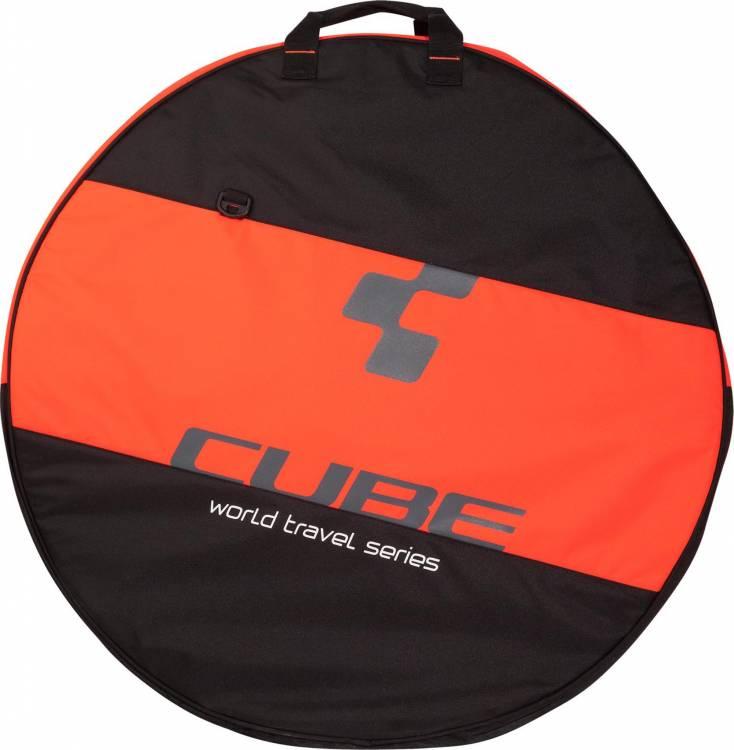 "Bolsa para neumáticos CUBE 26""-29"" 2-fach black n flashred"