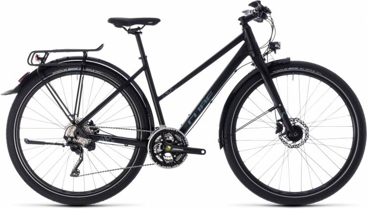 Cube Travel EXC black n grey 2018 - Bicicleta Trekking Damas Trapecio