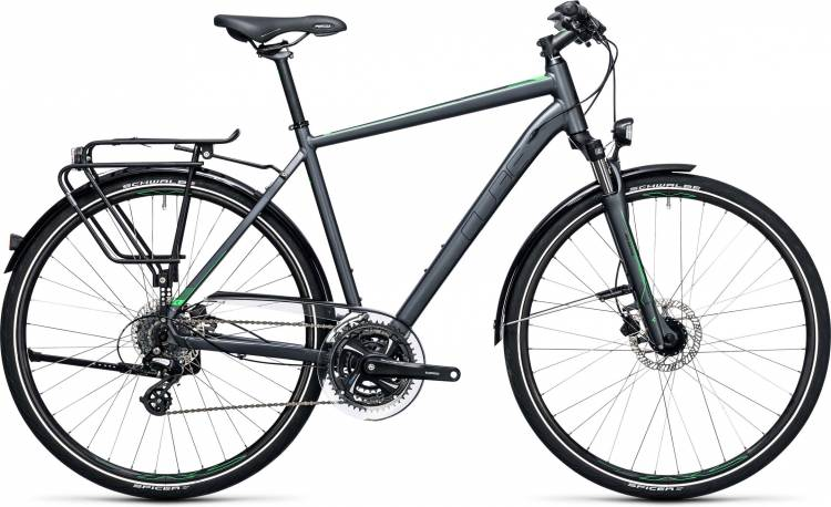 Cube Touring Pro grey n flashgreen 2017 - Bicicleta Trekking Hombres