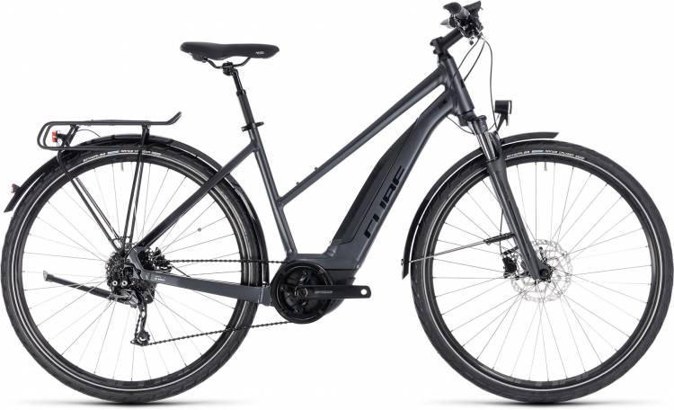 Cube Touring Hybrid ONE 500 iridium n black 2018 - Bicicleta-Eléctrica Trekking Damas Trapecio