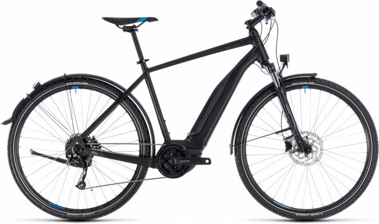 Cube Cross Hybrid ONE Allroad 500 black n blue 2018 - Bicicleta-Eléctrica Cross Hombres