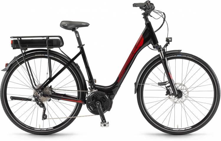 """Winora Y420.X 500Wh 28"""" schwarz 2017 - Bicicleta-Eléctrica Trekking Acceso Fácil"""