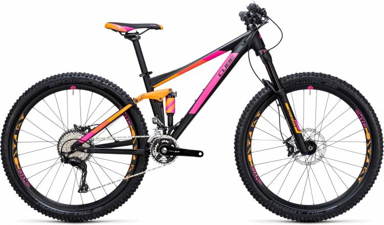 Cube Sting WLS 120 Pro 2x black n orange 2017 - MTB Doble Suspensión Damas