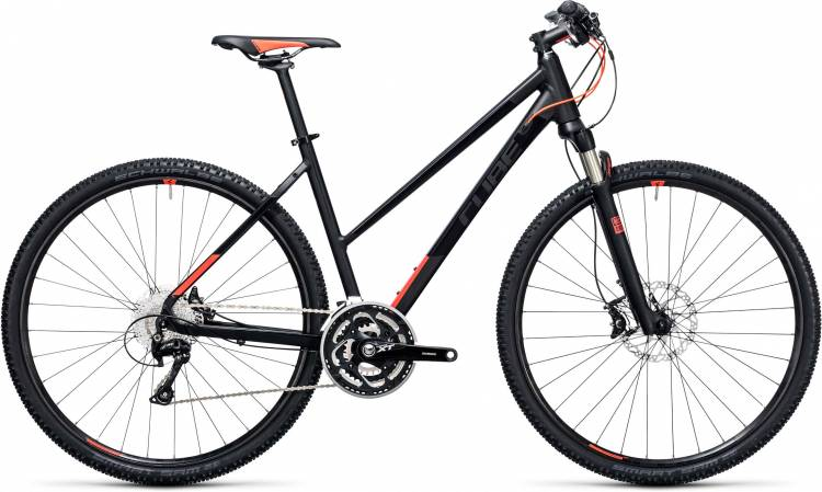 Cube Tonopah Pro black n flashred Damen Trapez 2017