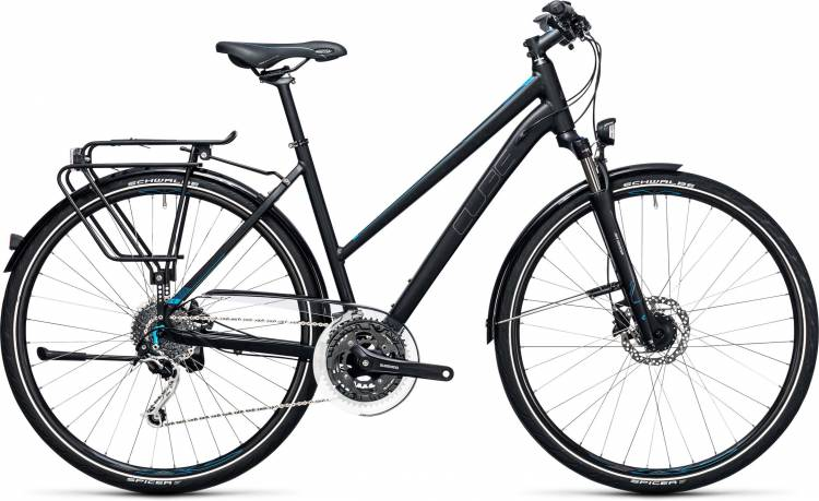 Cube Touring EXC black n blue Damen Trapez 2017