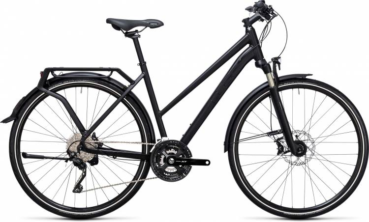 Cube Kathmandu black edition 2017 - Bicicleta Trekking Damas Trapecio