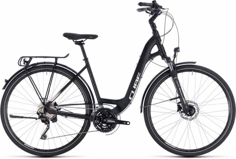 Cube Touring SL black n white 2018 - Bicicleta Trekking acceso Fácil