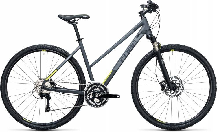 Cube Cross Pro grey n lime 2017 - Bicicleta Cross Damas Trapecio