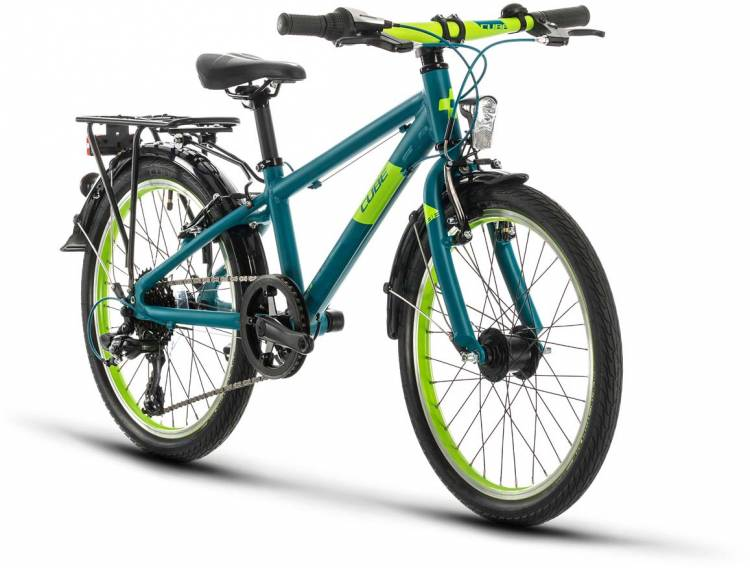 Cube Kid 200 Street petrol n green 2021 - Bicicleta Niños 20 Pulgadas