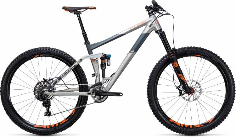 Cube Stereo 160 HPA TM 27.5 raw n flashorange 2017 - MTB Doble Suspensión