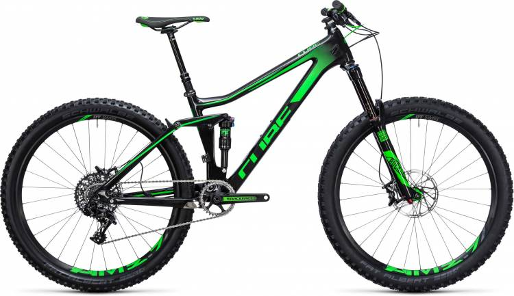 Cube Stereo 140 C:62 SL 27.5 carbon n green 2017