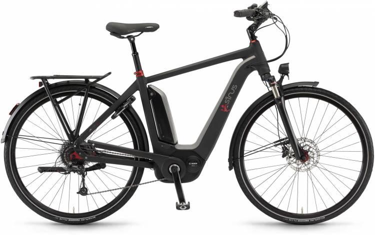 """Sinus Ena9 500Wh 28"""" schwarz matt 2017 - Bicicleta-Eléctrica Trekking Hombres"""