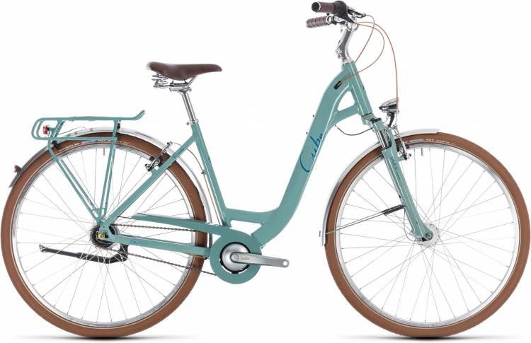 Cube Elly Cruise pistachio n blue 2018 - Bicicleta Trekking acceso Fácil