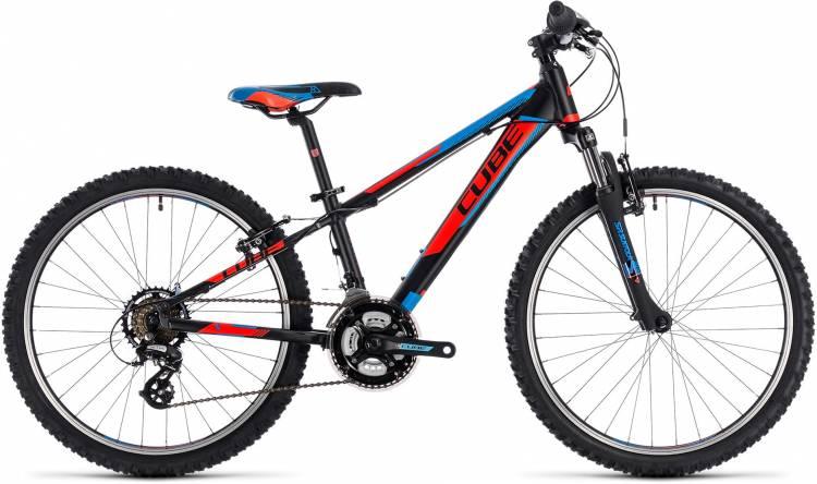 Cube Kid 240 black n flashred n blue 2018 - Bicicleta Niños 24 Pulgadas