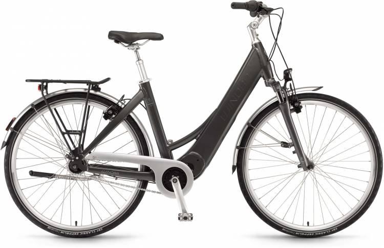 "Winora Manto M7 28"" FL 400Wh basaltgrau 2017 - Bicicleta-Eléctrica Trekking Acceso Fácil"