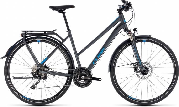 Cube Kathmandu EXC iridium n blue 2018 - Bicicleta Trekking Damas Trapecio