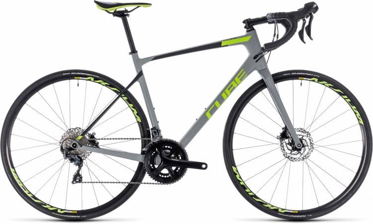 Cube Attain GTC Race Disc grey n green 2018 - Bicicleta de Carrera Carbono Hombres