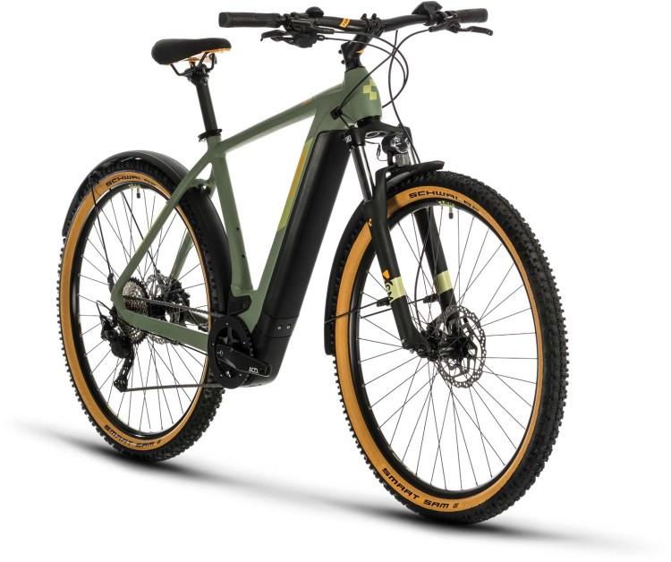 Cube Cross Hybrid Pro 625 Allroad green n orange 2020 - Bicicleta-Eléctrica Cross Hombres