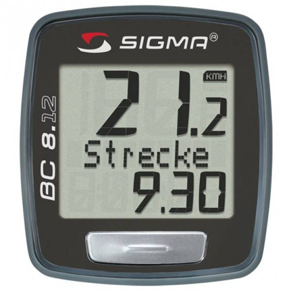 Cuentakilómetros Sigma BC 8.12 negro