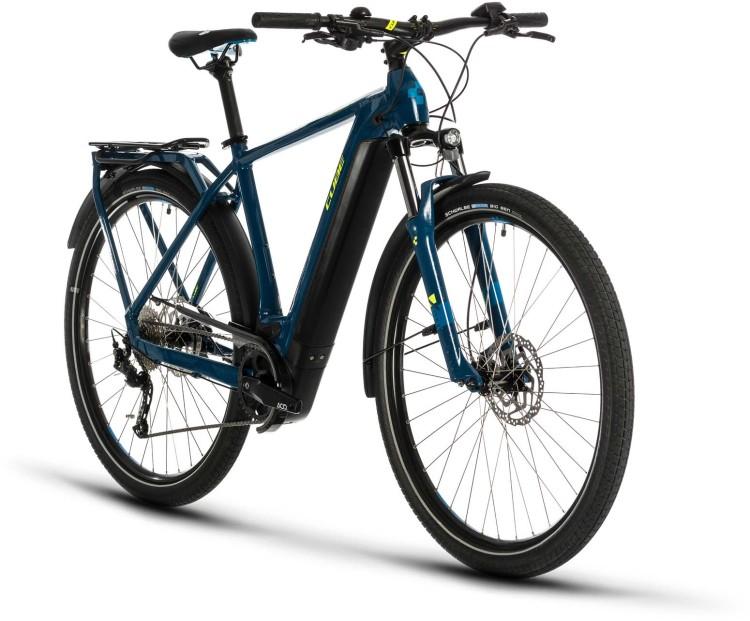 Cube Kathmandu Hybrid ONE 500 blue n yellow 2020 - Bicicleta-Eléctrica Trekking Hombres