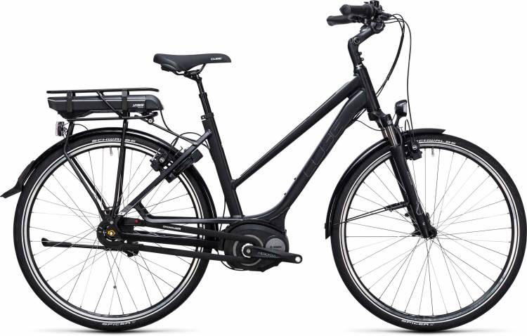 Cube Travel Hybrid 500 black n white Damen Trapez 2017