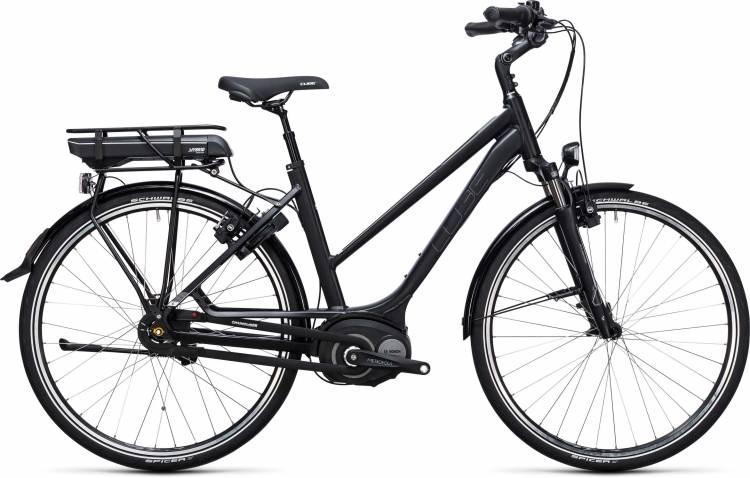 Cube Travel Hybrid 500 black n white 2017 - Bicicleta-Eléctrica Trekking Damas Trapecio