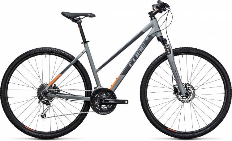 Cube Nature grey n flashorange 2017 - Bicicleta Cross Damas Trapecio