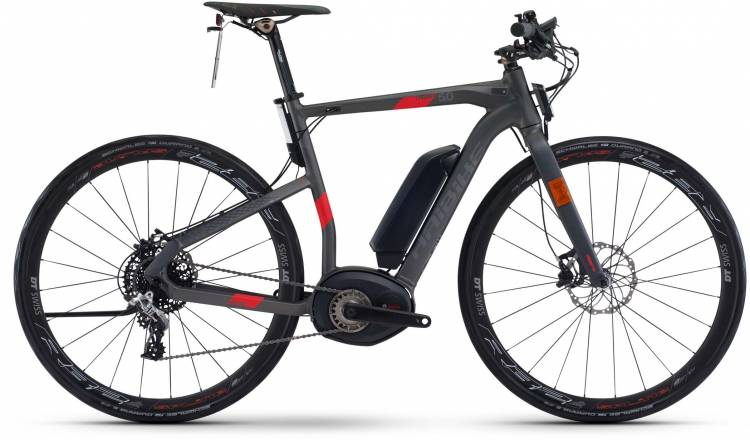 Haibike XDURO Urban S 5.0 500Wh anthrazit/rot matt 2017 - Bicicleta-Eléctrica Fitness Hombres