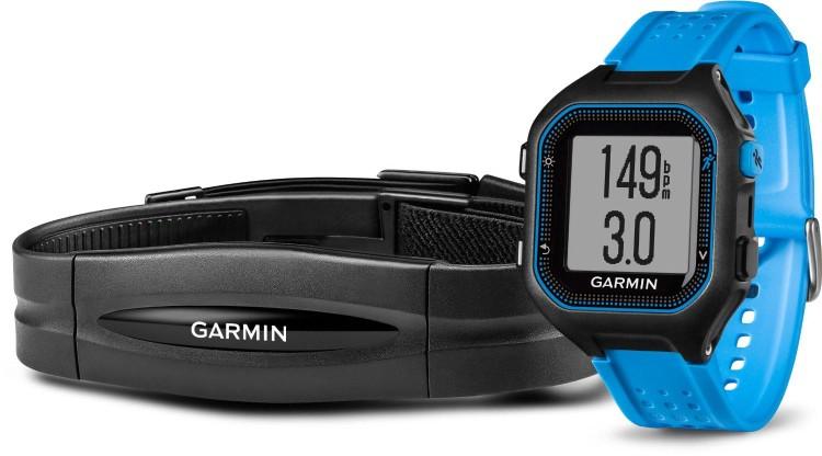 Garmin Forerunner® 25 negro/azul con pulsómetro estándar