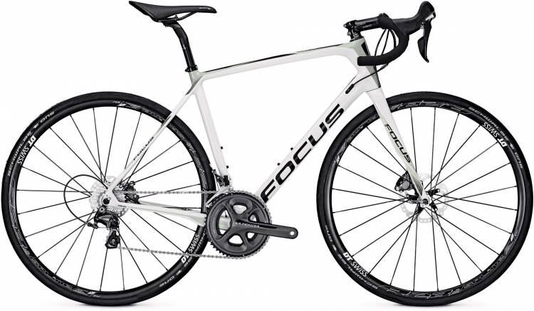 Focus Paralane Ultegra white/beige 2017 - Bicicleta de Carrera Carbono Hombres