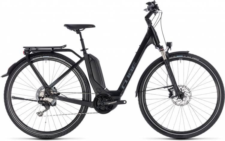 Cube Touring Hybrid EXC 500 black n grey 2018 - Bicicleta-Eléctrica Trekking Acceso Fácil