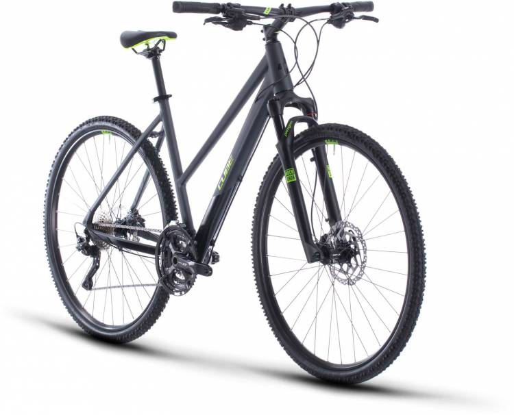 Cube Cross Pro iridium n green 2020 - Bicicleta Cross Damas