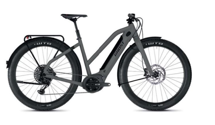 Ghost Hybride Square Travel B4.7+ AL W rock / jet black 2020 - Bicicleta-Eléctrica Trekking Damas