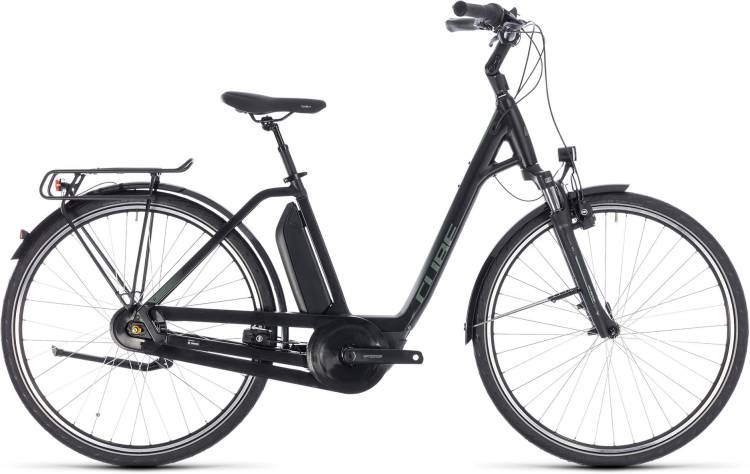 Cube Town Hybrid ONE RT 500 black n frostgreen 2018 - Bicicleta-Eléctrica Trekking Acceso Fácil