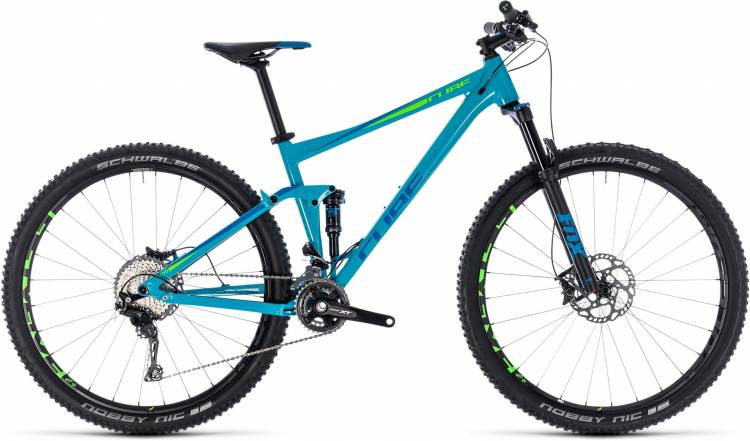 Cube Stereo 120 Race blue n green 2018