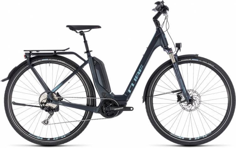 Cube Touring Hybrid Pro 400 darknavy n blue 2018 - Bicicleta-Eléctrica Trekking Acceso Fácil