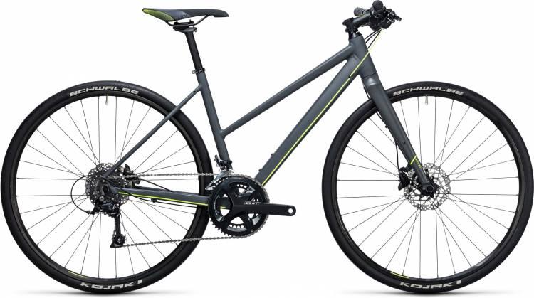 Cube SL Road Pro grey n flashyellow 2017 - Bicicleta Fitness Damas Trapecio
