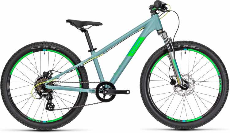 Cube Acid 240 Disc grey n neongreen 2021 - Bicicleta Niños 24 Pulgadas