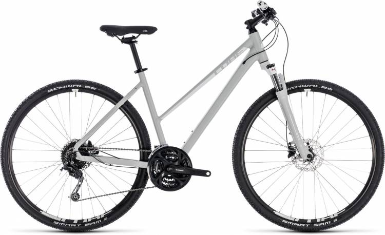 Cube Nature Pro bright grey n white 2018 - Bicicleta Cross Damas Trapecio