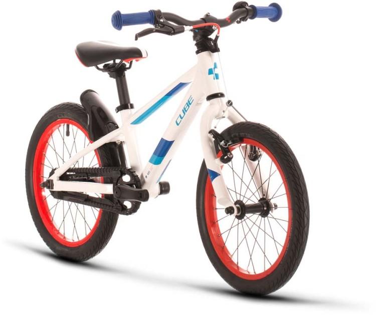 Cube Cubie 160 white n blue 2021 - Bicicleta Niños 16 Pulgadas