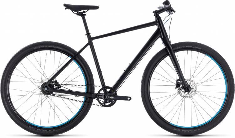 Cube Hyde Pro black n blue 2018 - Bicicleta Fitness Hombres