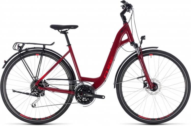 Cube Touring EXC darkred n red 2018 - Bicicleta Trekking acceso Fácil