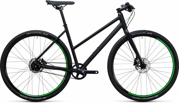 Cube Hyde Race black n flashgreen Damen Trapez 2017