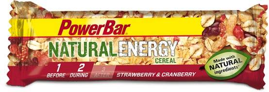 PowerBar Natural Energy Cereal Riegel - Erdbeer-Cranberry 40g