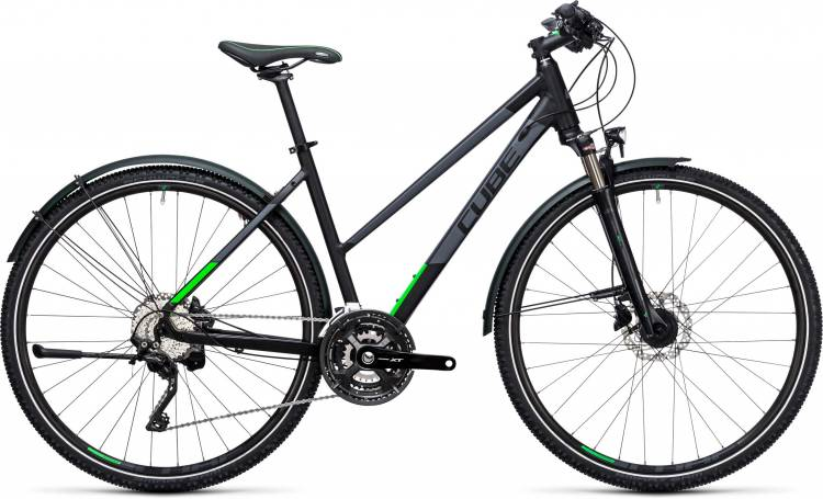 Cube Cross Allroad black n flashgreen Damen Trapez 2017