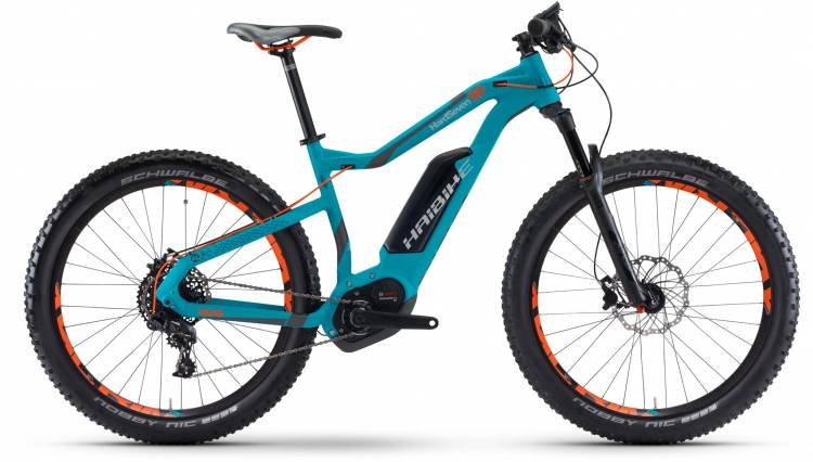 Haibike XDURO HardSeven 6.0 500Wh cyan/anthr./orange matt 2017