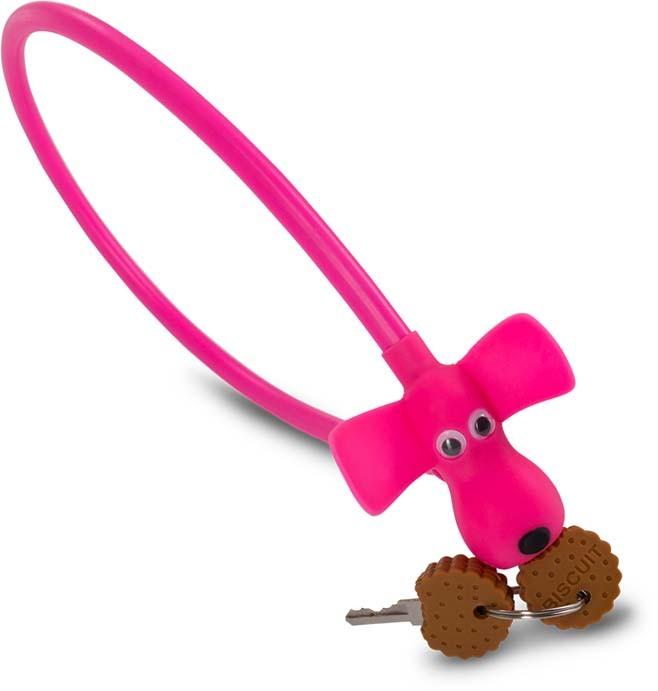 """Bloqueo de cable RFR HPS """"DOG"""" 10 x 450 mm rosa"""