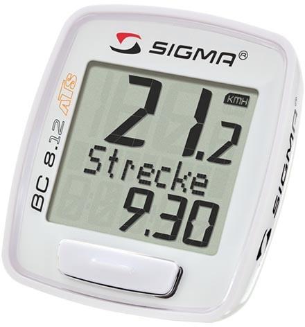 Sigma Fahrradcomputer BC 8.12 ATS kabellos weiß