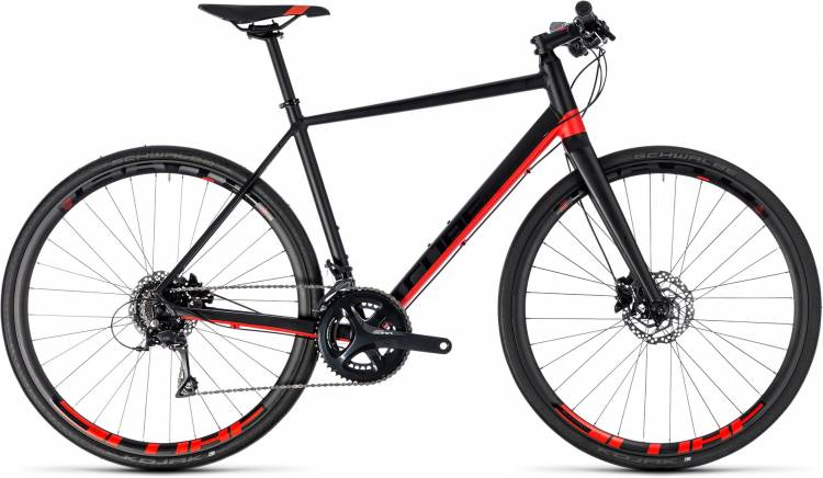 Cube SL Road Pro black n red 2018 - Bicicleta Fitness Hombres