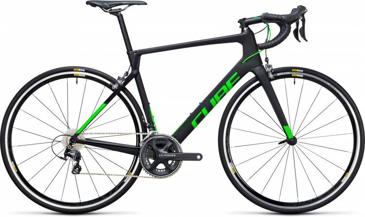 Cube Agree C:62 Pro carbon n flashgreen 2017 - Bicicleta de Carrera Carbono Hombres